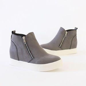 taylor gray wedge platform sneakers booties